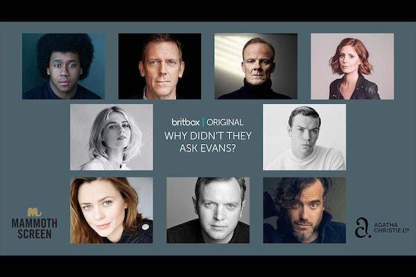 Will Poulter and Lucy Boynton star in Hugh Laurie's adaptation of Why Didn't They Ask Evans? for BritBox